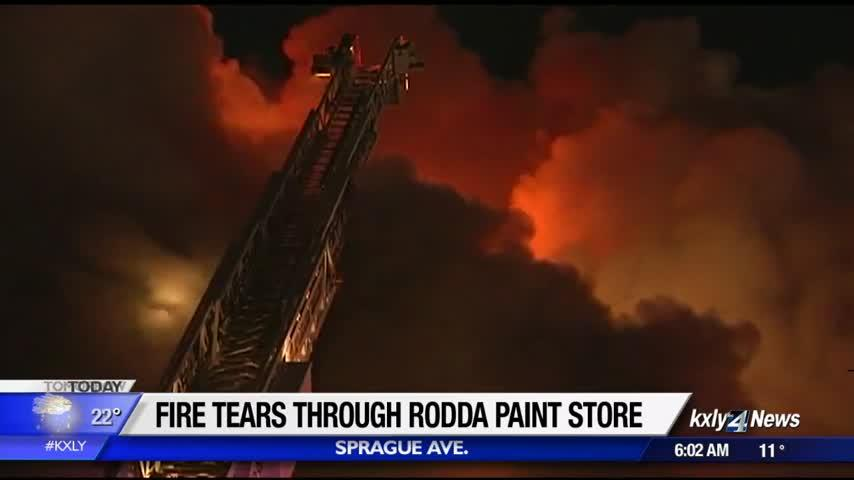Spokane Valley paint shop likely a total loss following Sunday night fire