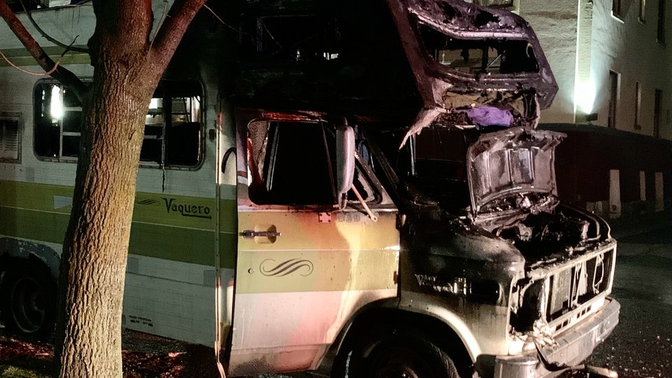 Man critically burned in Browne's Addition RV fire, transported to Harborview