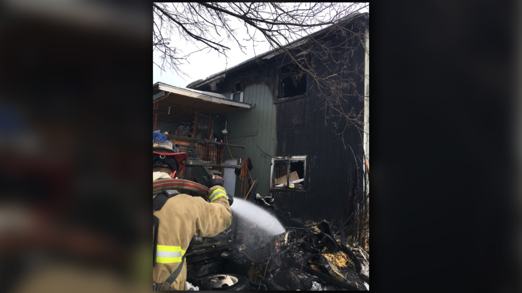 Three people, four pets escape Sunday morning house fire in Otis Orchards