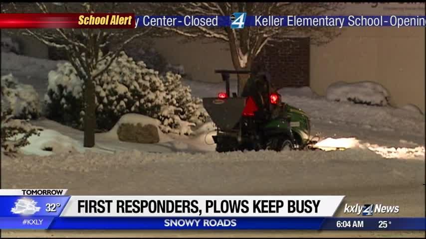 First responders, plow crews working around the clock during winter storm
