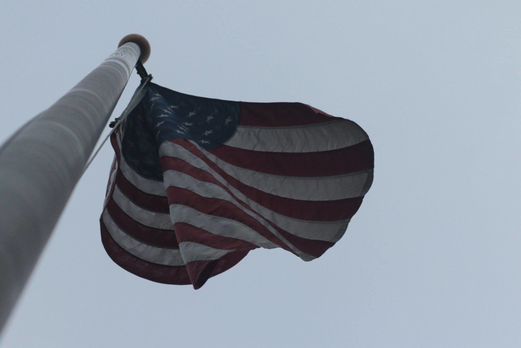 City flags lowered to half staff for former first lady