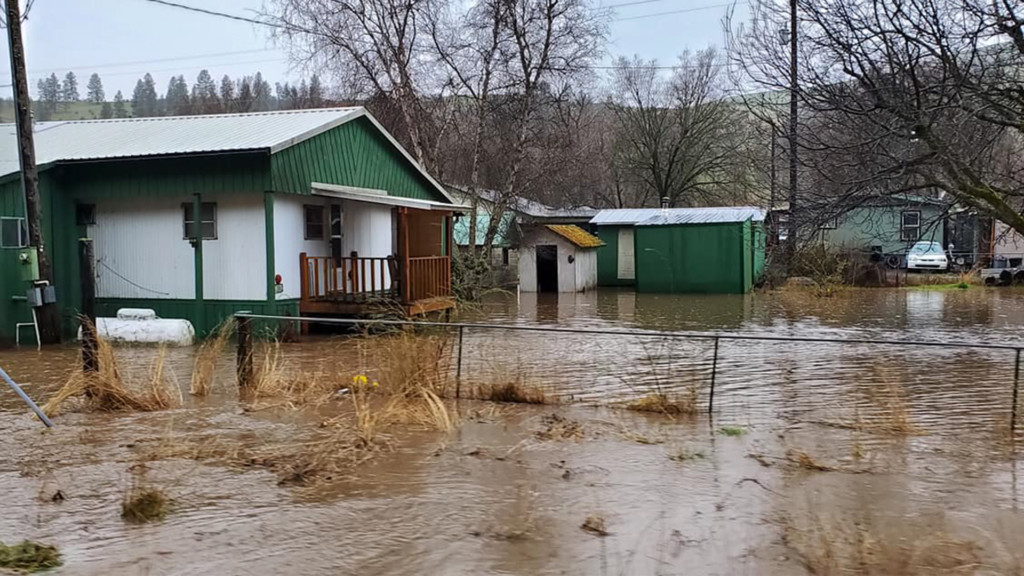 Heavy rain causing flooding, mudslides through north and central Idaho