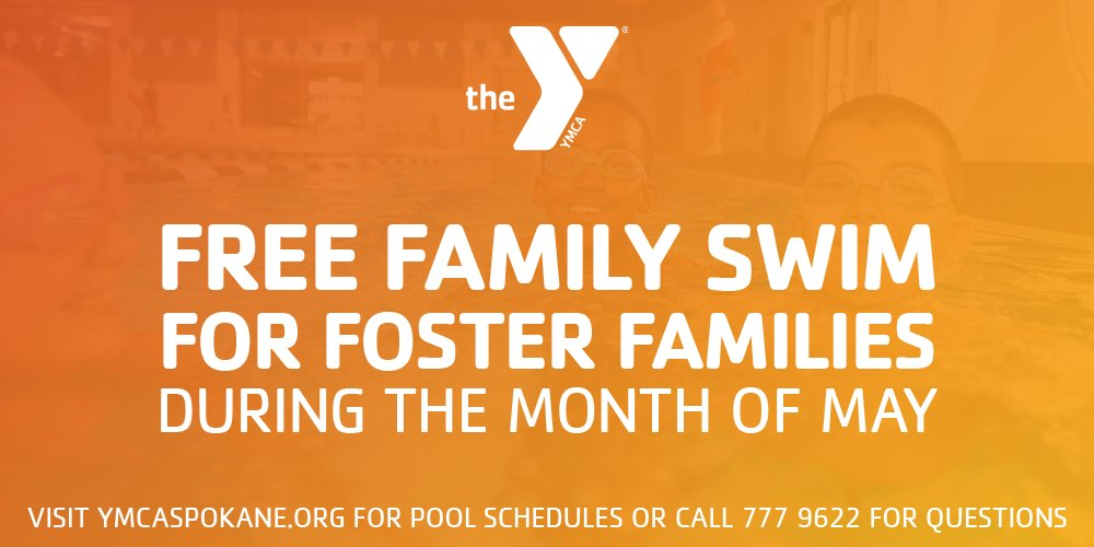 Foster families swim free in May