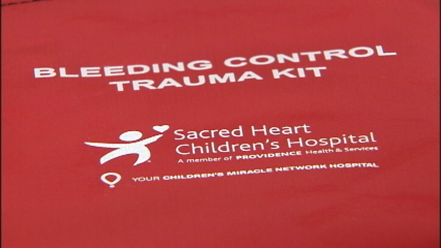 Children's Miracle Network, Sacred Heart team up to distribute trauma kits
