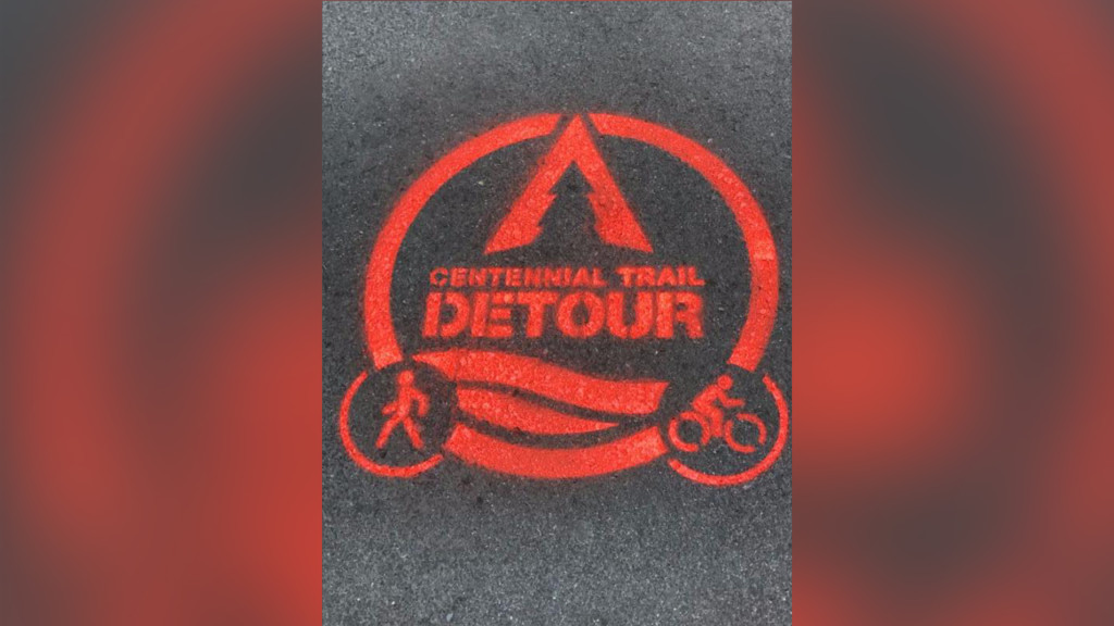 Detour in place on Centennial Trail