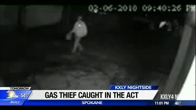 Gas thief caught in the act