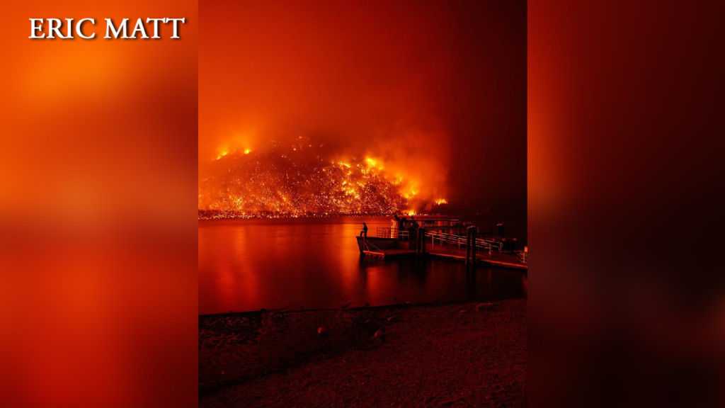 Captivating photos show fire's destruction in Glacier National Park