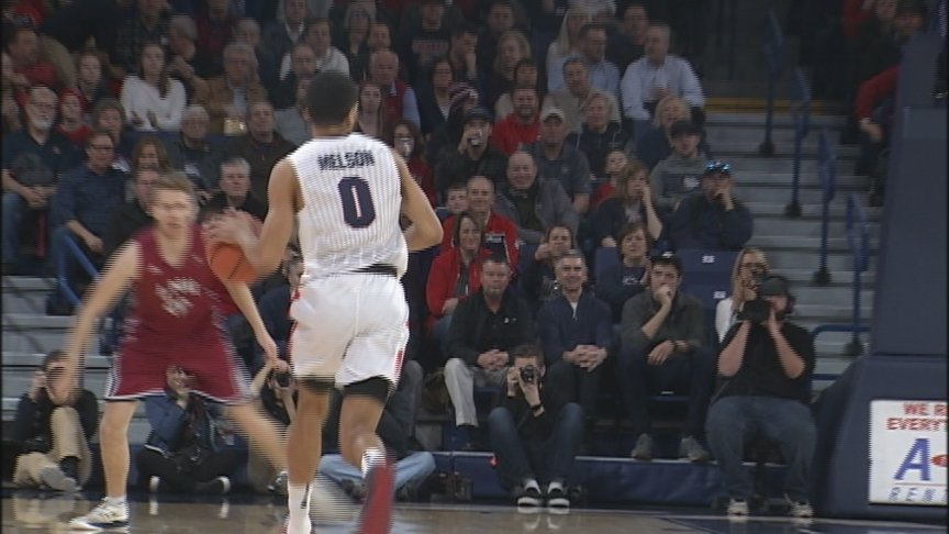 Williams Gets Double-Double To Lead Zags To Blowout Win