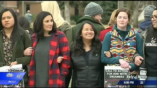 Gonzaga students hold rally supporting Dreamers