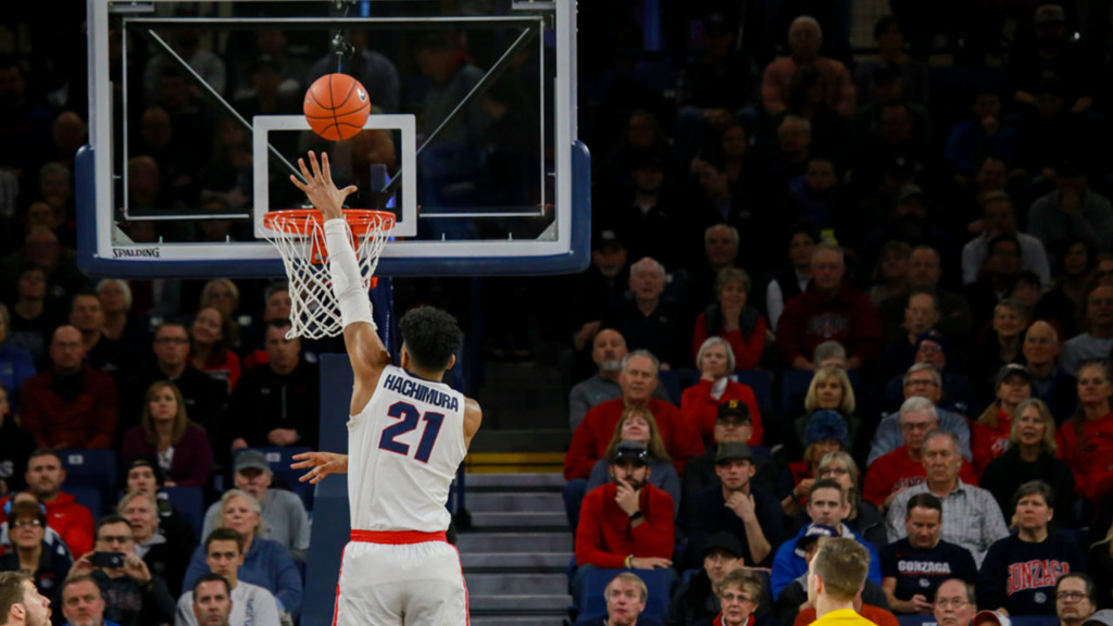 Gonzaga moves up to #2 in AP Top 25 Poll