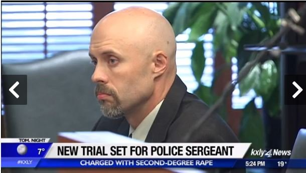 Alleged victim gives emotional testimony in rape case of former officer
