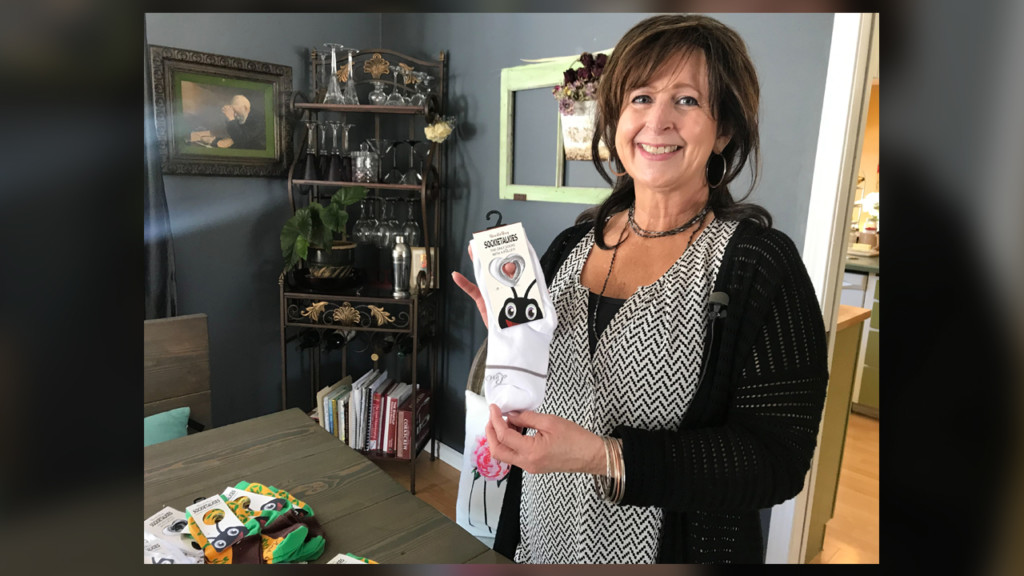 Spokane grandma designs adaptive socks for all ages