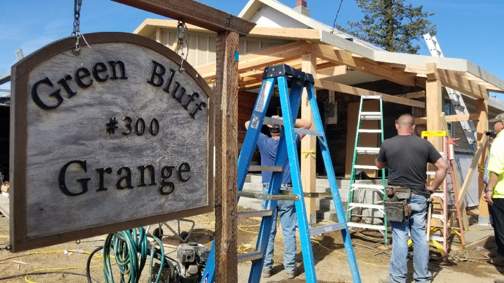 Extreme Team Project Update: The Green Bluff Grange