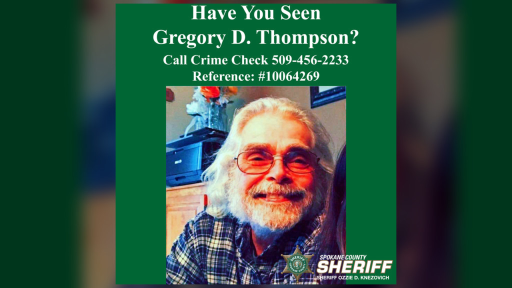 SCSO searching for missing Medical Lake man