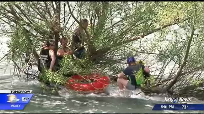 Group of rafters rescued from Spokane River