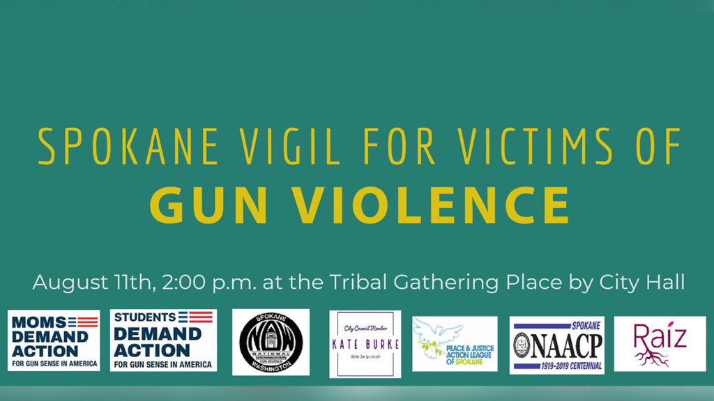 Spokane vigil set to take place for victims of gun violence
