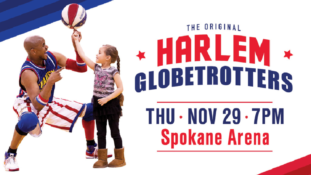 KXLY's Derek Deis plays with the Harlem Globetrotters