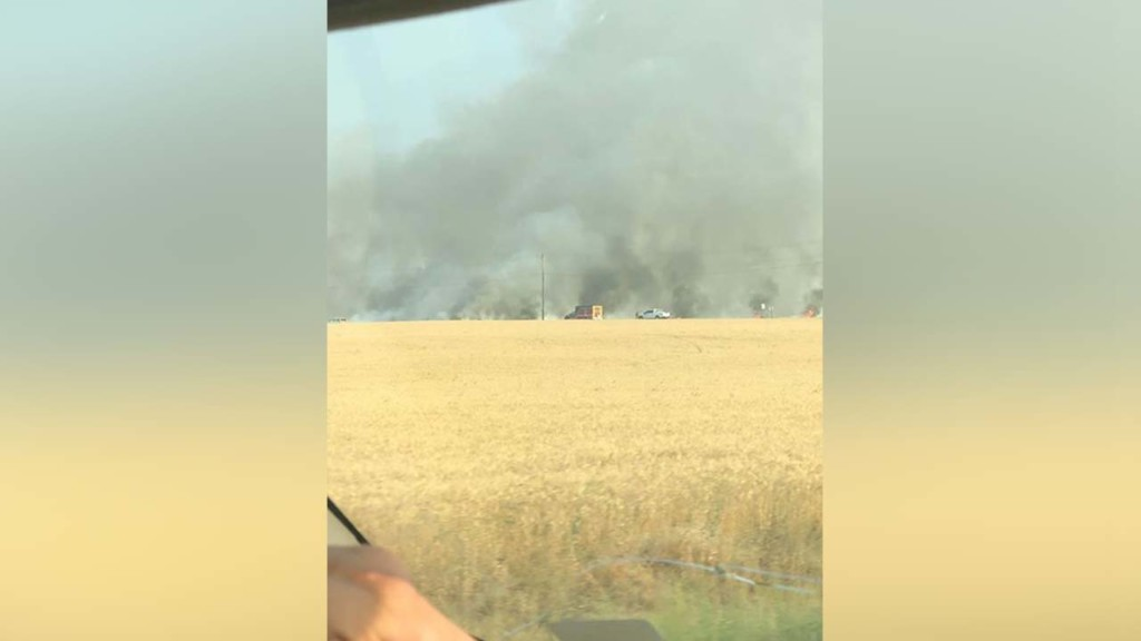 Wheat field fire put out after burning near Idaho State Highway 41