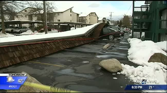 Heavy snow could cause roofs to collapse