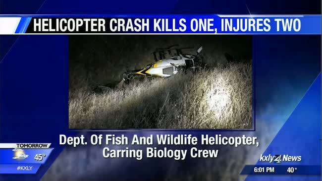 Helicopter carrying biology crew crashes, kills one near Pomeroy