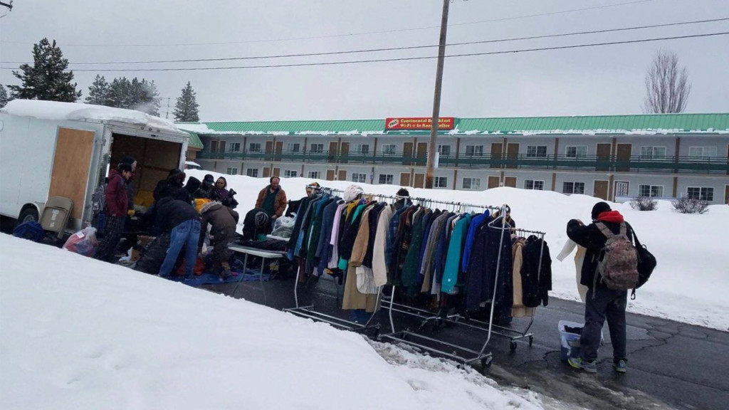 Groups drop off coats, other supplies for homeless ahead of cold week