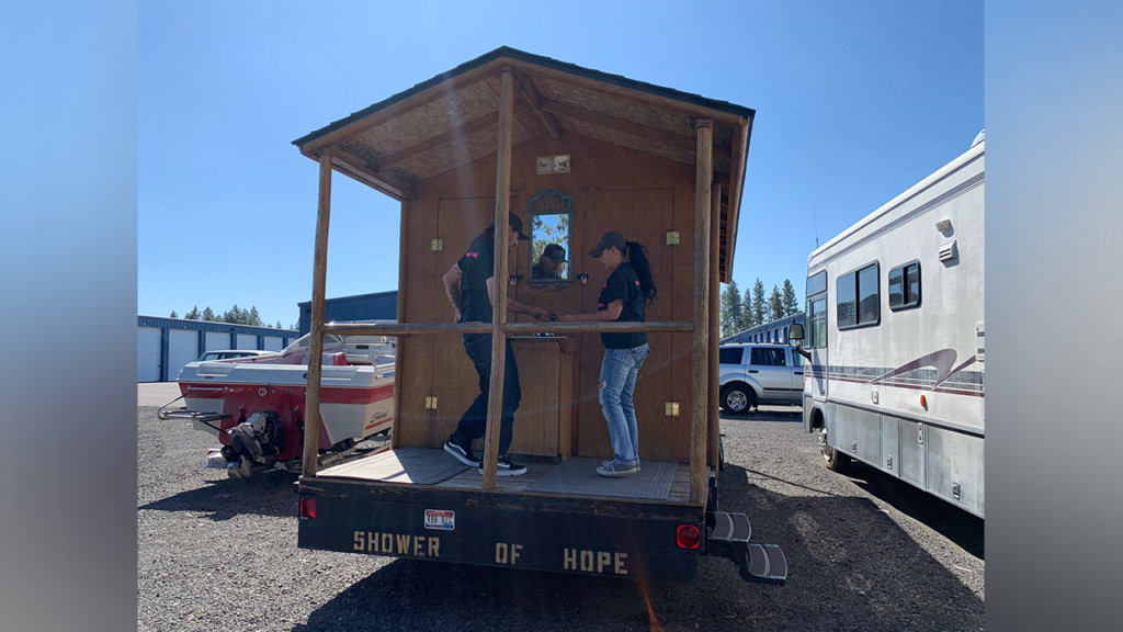 Local non-profit provides showers to the homeless