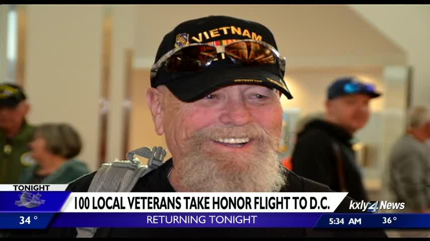 100 local veterans return home on Honor Flight