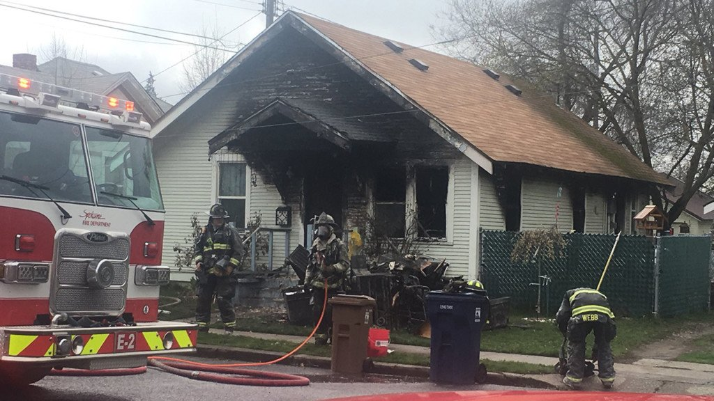 Cigarette dropped on medical oxygen causes house fire