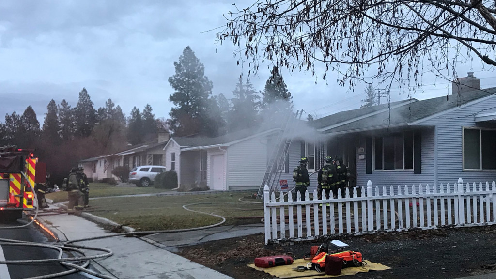 Burning candles left unattended start house fire