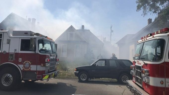 Garage destroyed in West Central house fire, no injuries