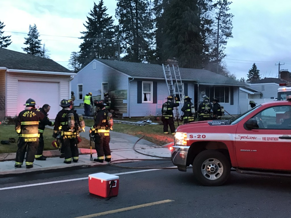 Fire damages home on Spokane's South Hill