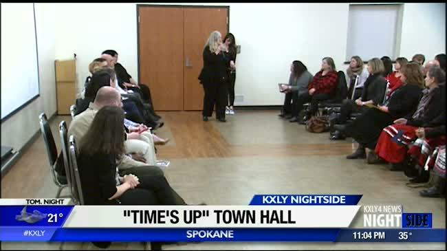 """Hundreds turn out for """"Times Up"""" town hall"""