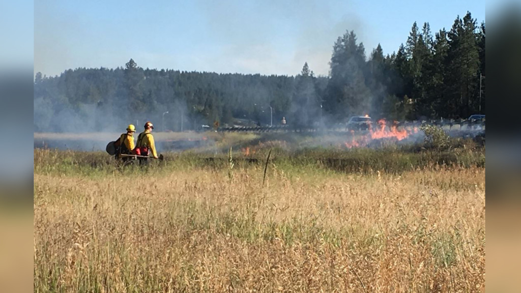 Crews extinguish wildfire burning on SR 195 and Hatch Road