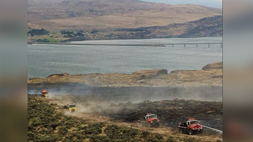 Fire near Vantage Bridge grows to 200 acres, quickly contained