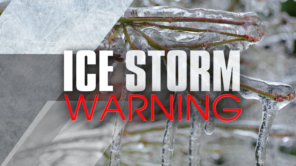 National Weather Service issues Ice Storm Warning for Grant County