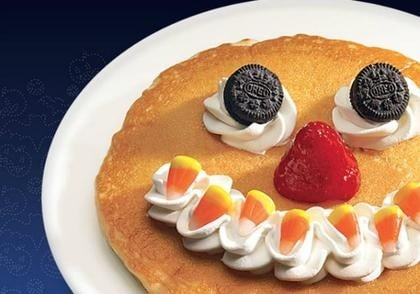 Free IHOP Scary Face pancake on Halloween