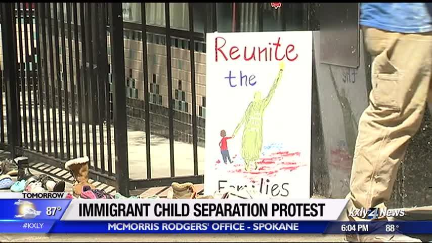 Immigrant child separation protest hits Spokane