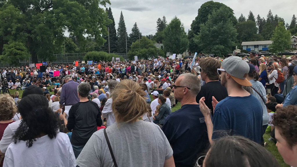Hundreds attend immigration rally in Spokane