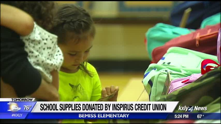 Inspirus Credit Union donates school supplies to local elementary students