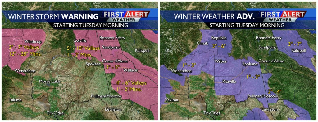 Strong winter storm for Tuesday