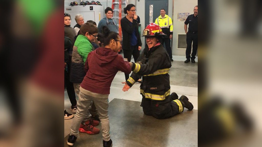 Spokane Fire Department holds special needs visit for Giving Tuesday