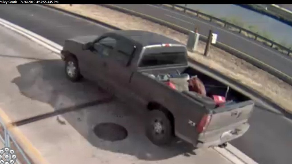 ISP looking for truck that escaped car chase on Friday
