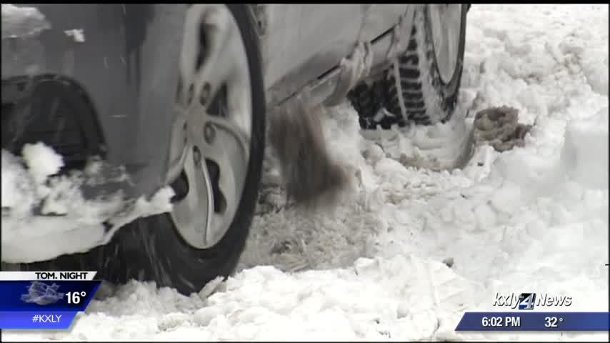 It could be several days before plows reach some side streets