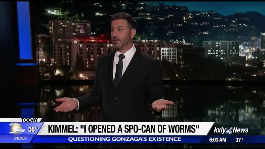 "Jimmy Kimmel: ""Apparently I opened a whole Spo-can of worms"""