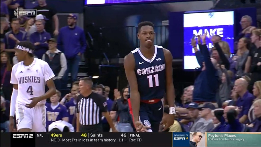 No. 9 Gonzaga downs No. 22 Washington 83-76 in another classic