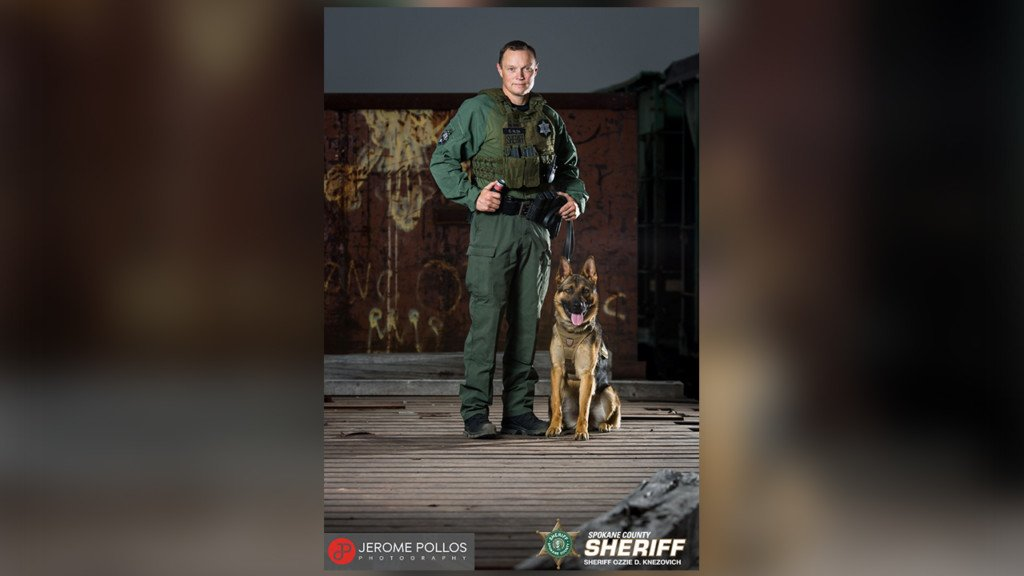 Two burglary suspects arrested in Spokane Valley with help of K9 Bane