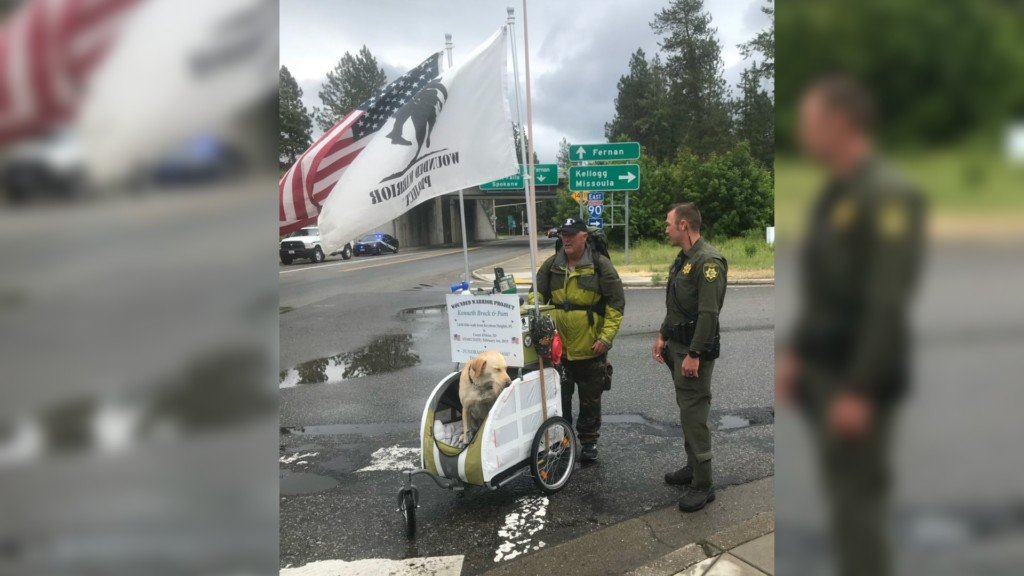 Wounded Warrior veteran finishes his 2,000 mile journey in CDA