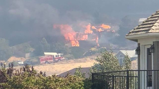 Bofer canyon fire destroys 5 homes; threatens Finley