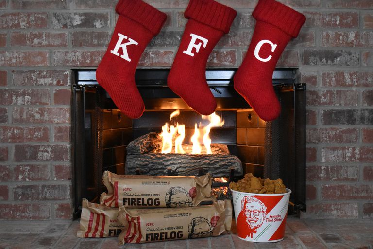 KFC sells out of fried chicken scented fire logs