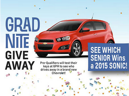 Knudtsen Chevrolet will give one lucky senior a brand new car